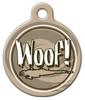 Dog Tag Art Woof! Pet ID Dog Tag