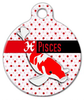 Dog Tag Art Pisces Pet ID Dog Tag