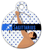 Dog Tag Art Sagittarius Pet ID Dog Tag