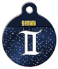 Dog Tag Art Gemini Symbol Pet ID Dog Tag