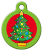 Dog Tag Art Cartoon Christmas Tree Pet ID Dog Tag