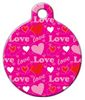 Dog Tag Art Love Pattern Pet ID Dog Tag