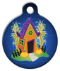 Dog Tag Art Spooky Haunted Dog House Pet ID Dog Tag