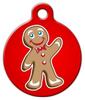 Dog Tag Art Gingerbread Man Pet ID Dog Tag