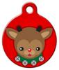 Dog Tag Art Reindeer Cutie Pet ID Dog Tag
