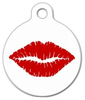 Dog Tag Art Lipstick Kiss Pet ID Dog Tag