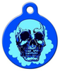 Dog Tag Art Blue Cheer Skull Pet ID Dog Tag