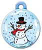 Dog Tag Art Snowman in Snow Globe Pet ID Dog Tag
