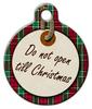 Dog Tag Art Do Not Open Christmas Pet ID Dog Tag