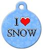 Dog Tag Art I Love Snow Pet ID Dog Tag