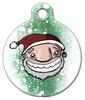 Dog Tag Art Santa Claus Pet ID Dog Tag