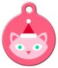 Dog Tag Art Santa Cat Pet ID Dog Tag