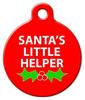 Dog Tag Art Santa's Little Helper Pet ID Dog Tag