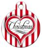 Dog Tag Art Christmas Heart Pet ID Dog Tag