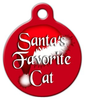 Dog Tag Art Santa's Favorite Cat Pet ID Dog Tag