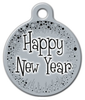 Dog Tag Art Happy New Year Pet ID Dog Tag