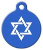Dog Tag Art Jewish Star Pet ID Dog Tag