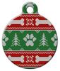 Dog Tag Art Ugly Christmas Sweater Pet ID Dog Tag