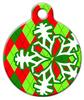Dog Tag Art Argyle Christmas Pet ID Dog Tag