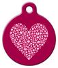 Dog Tag Art Valentine Heart Pet ID Dog Tag