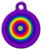 Dog Tag Art Rainbow Circles Pet ID Dog Tag