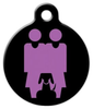 Dog Tag Art Two Mommies and a Dog Pet ID Dog Tag