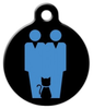 Dog Tag Art Two Daddies and a Cat Pet ID Dog Tag