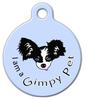 Dog Tag Art I am a Gimpy Pet Blue Pet ID Dog Tag