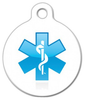 Dog Tag Art Caduceus Medical Pet ID Dog Tag