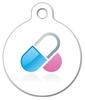 Dog Tag Art Medication Pills Medical Pet ID Dog Tag