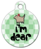 Dog Tag Art I'm Deaf Pet ID Dog Tag