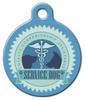 Dog Tag Art Blue Service Pet ID Dog Tag