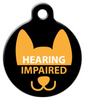 Dog Tag Art Hearing Impaired Pet ID Dog Tag