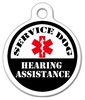Dog Tag Art Service Dog Hearing Assistance Pet ID Dog Tag
