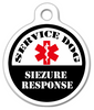 Dog Tag Art Service Dog Seizure Response Pet ID Dog Tag