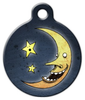 Dog Tag Art Laughing Moon Pet ID Dog Tag