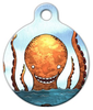 Dog Tag Art Orange Octopus Pet ID Dog Tag