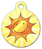 Dog Tag Art Sun Smile Pet ID Dog Tag