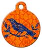 Dog Tag Art Indian Bird Batik Pet ID Dog Tag