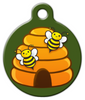 Dog Tag Art Happy Honey Bee Hive Pet ID Dog Tag