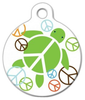 Dog Tag Art Peace Turtle Pet ID Dog Tag