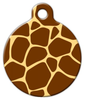 Dog Tag Art Giraffe Pattern Pet ID Dog Tag