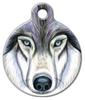Dog Tag Art Wolf Art Pet ID Dog Tag