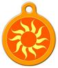 Dog Tag Art Orange Sun Pet ID Dog Tag