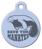 Dog Tag Art Manatee Conservation Pet ID Dog Tag