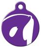 Dog Tag Art Orca in Purple Pet ID Dog Tag
