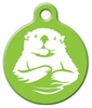 Dog Tag Art Otter in Lime Pet ID Dog Tag