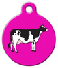 Dog Tag Art Holstein Cow Pet ID Dog Tag