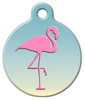 Dog Tag Art Pink Flamingo Chic Pet ID Dog Tag