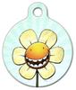 Dog Tag Art Happy Flower Pet ID Dog Tag
